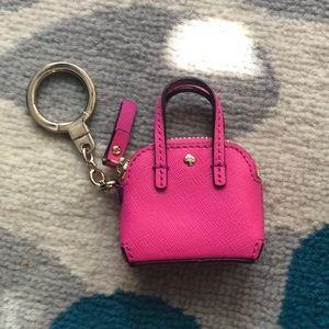 KATE SPADE mini tote purse bag charm key chain